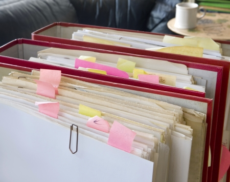 carpetas de archivos desordenados Foto de archivo - 17697064