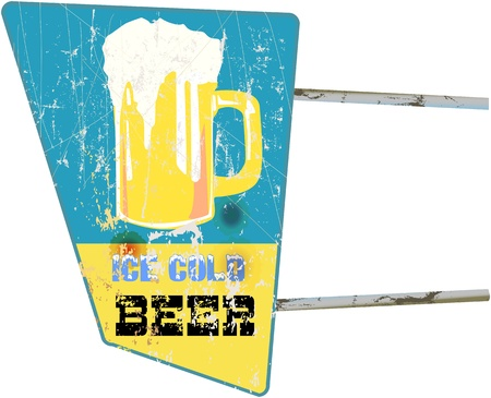 imperfections: vintage beer sign