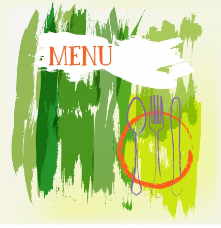 artistic menu card design, free copy space, vector Stock Vector - 17816934