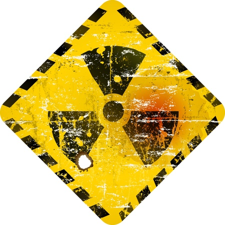 hazardous metals: radiation sign, nuclear power warning sign