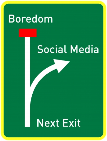 social media concept: social media concept, traffic sign