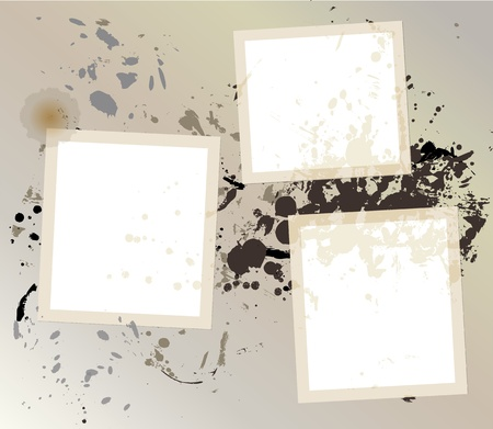 Grungy empty frames, vector, free space for pics Vector