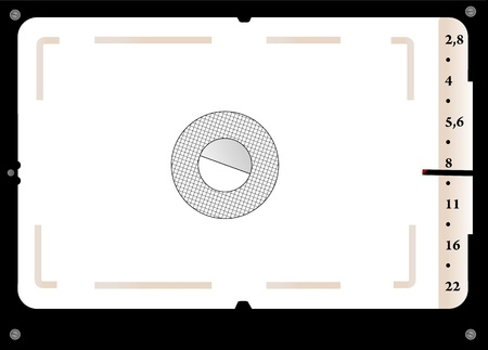 Classic SLR viewfinder Vector