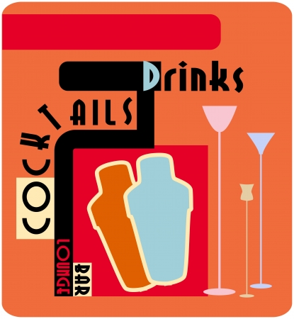 Cocktail menu card design template Vector