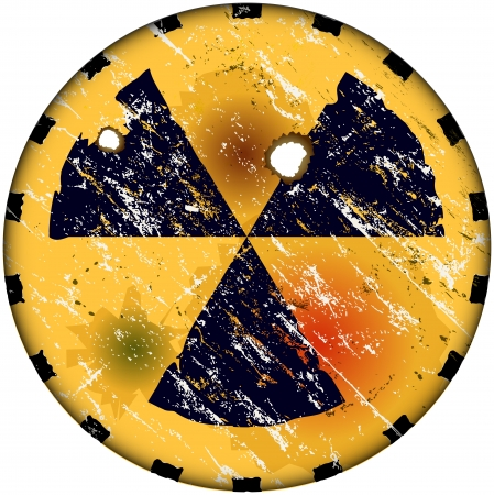 radiation sign, nuclear power warning sign Vector