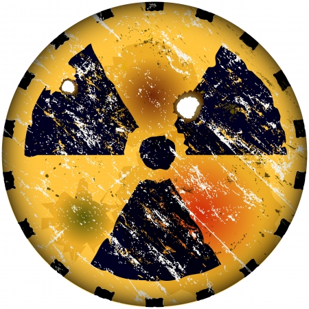 radiation sign, nuclear power warning sign Stock Vector - 18217512