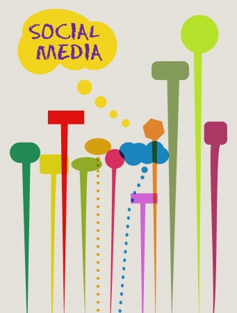 social networks and media concept, speech bubbles Vector