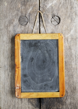 scuff: vintage chalkboard, free space for your copy Stock Photo