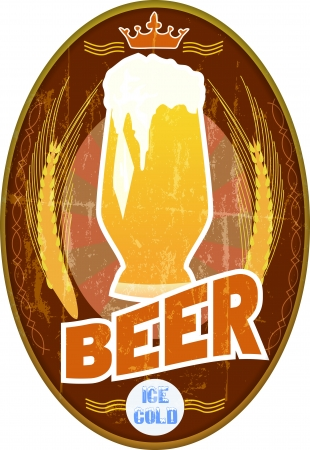 beer label -  bar o  pub sign, vector illustration illustration