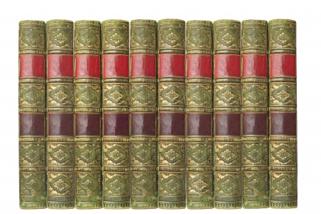 old book cover: vintage books, isolated