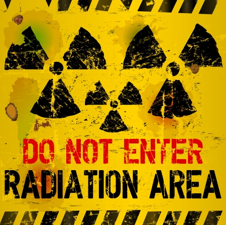radiation area warning sign,  illustration illustration