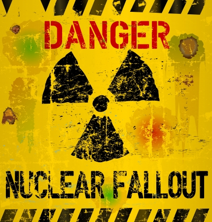 nuclear fallout warning sign photo