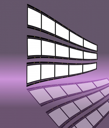 pix: film strip with empty frames, free space for your pix