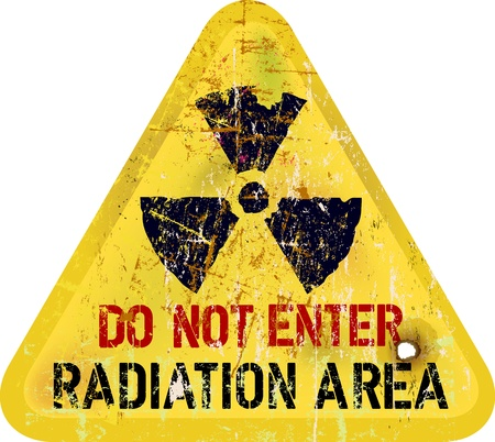 Radiation area warning photo