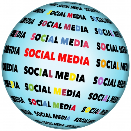 social media icon,vector Stock Photo - 19050856