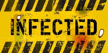malicious software: computer virus warning sign, xxl format