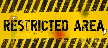 restricted area: restricted area, prohibition sign,vector