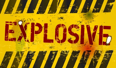 explosive sign: Explosive warning sign, vector