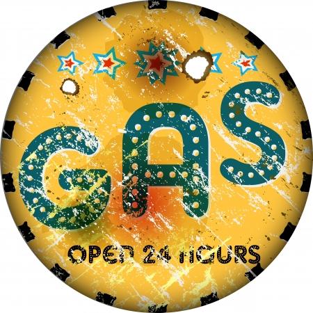 vintage gas sign photo