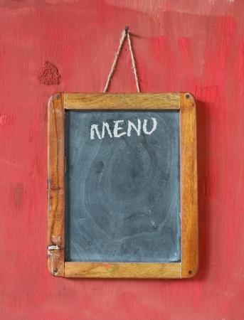 menu on blackboard, free copy space photo