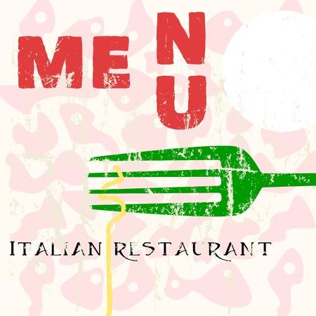 menu design for italian restaurant,w. space for your logo photo