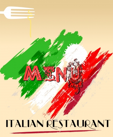 Menu design for italian restaurant, free space for your logo. photo