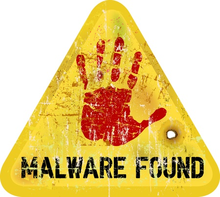 malware / copmuter virus warning sign,