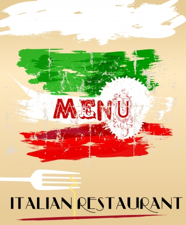 Menu design for italian restaurant, free space for restaurant name photo
