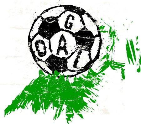 soccer   football illustration, free copy space Stock Vector - 20009671