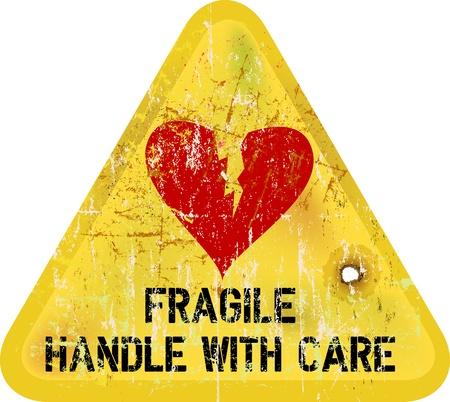 signe d'avertissement: le chagrin, le concept de l'amour Illustration