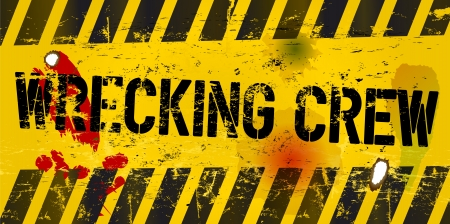 warning sign  wrecking crew, vector Stock Vector - 20246060