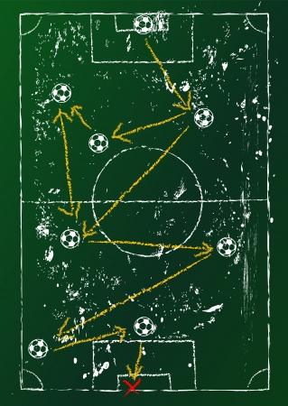 tactics: soccer tactics diagram,grungy