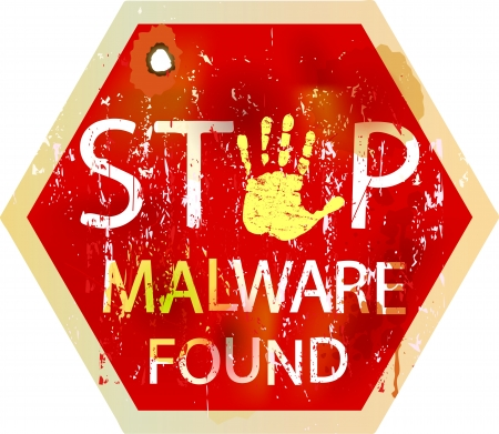virus alert: malware   computer virus warning sign, vector
