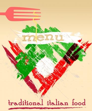 restaurante italiano: Dise�o del men�, restaurante italiano, el espacio libre para el logotipo
