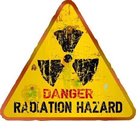 radiacion: Señal de advertencia del peligro de radiación, vector Vectores