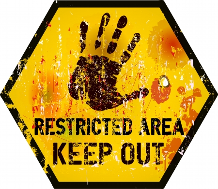 restricted access: Keep out sign, warning   prohibition sign, vector