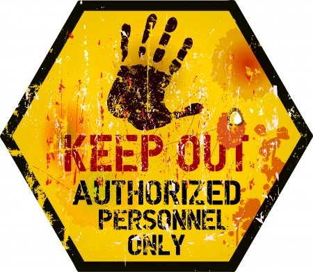 keep out: Keep out sign, warning   prohibition sign, vector