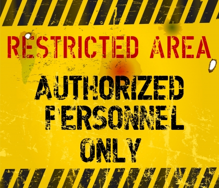 restricted access: restricted area, prohibition sign,vector