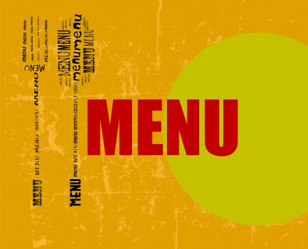 menu design, free copy space, vector Vector