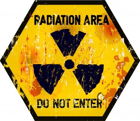 area restringida: se�al de advertencia �rea restringida, el estilo grunge