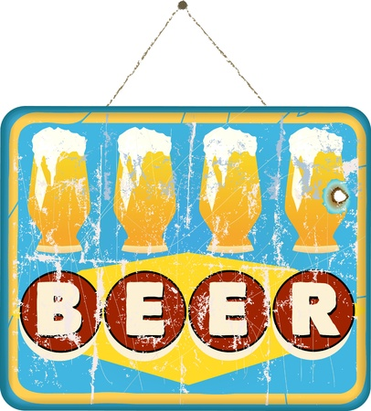 imperfections: beer sign, vector