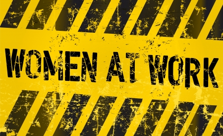 sign  women working, gender equality concept Ilustracja