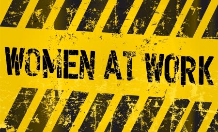 Unterzeichnen arbeitenden Frauen, Gleichstellung der Geschlechter Konzept Standard-Bild - 21607135