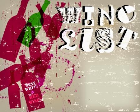 harvest festival: Wine List Menu Card Design, free copy space