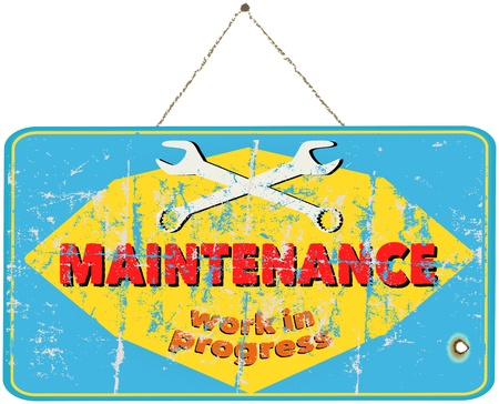 Maintenance sign for website, vintage style Stock Vector - 21915511