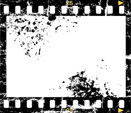 grungy negative film Çizim