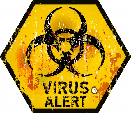 computer virus alert sign, vector illustration Vector