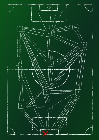 gainer: soccer match analysis diagram, vector illustration Illustration