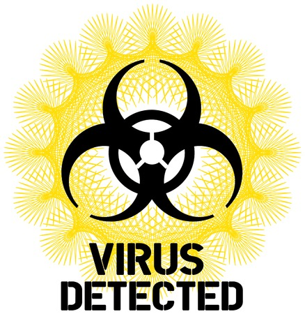 computer virus sign retro style, vector illustration Stock Vector - 23108677