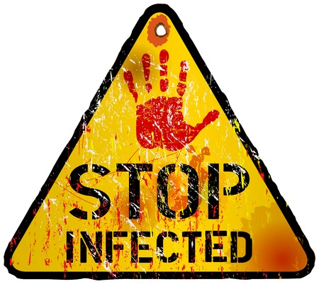 computer virus alert sign, vector eps 10 Stock Vector - 23284493